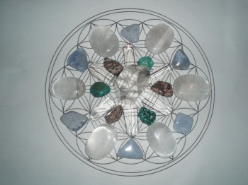 how to make your own crystal grids