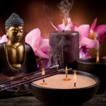 budha and candles
